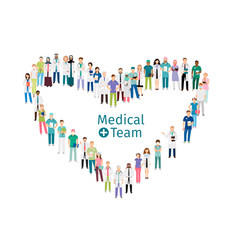 medical team workers vector image