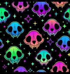 neon retro pattern multicolored bright animal vector image