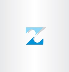 Number 2 two or letter z blue icon logo vector