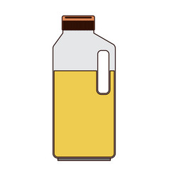 orange juice bottle in colorful silhouette with vector image