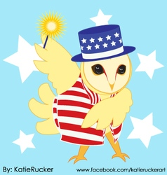 Patriotic Owl vector