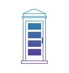 phone booth isolated icon vector image