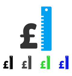 Pound rate flat icon vector