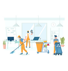 Professional office cleaning services vector