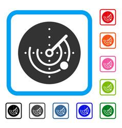 Radar framed icon vector