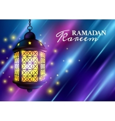 Ramadan Kareem Greetings with Colorful Set of vector image