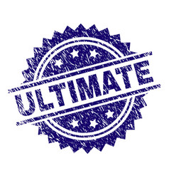 Scratched textured ultimate stamp seal vector