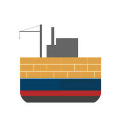 Sea freight icon with cargo ship vector