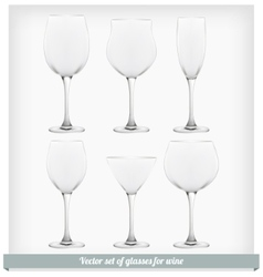 Set glass wine vector image