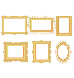 set of picture frame isolated on white background vector image