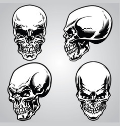 Set of skull vector
