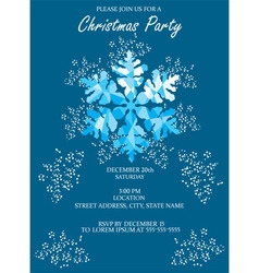 Snowflake blue invitation vector