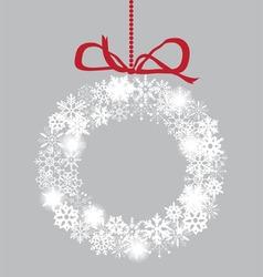 Snowflake white wreath vector