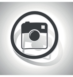 Square camera sign sticker curved vector