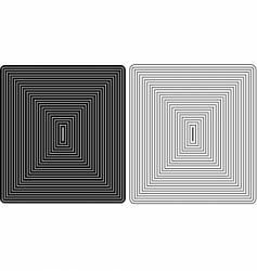 Square graphic vector