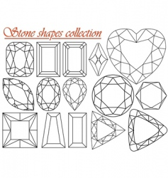 stone shapes collection vector image