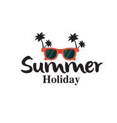 Summer holiday sunglasses coconut tree background vector