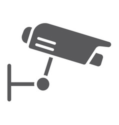 surveillance camera glyph icon guard and digital vector image