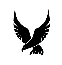 Swooping falcon bird vector