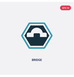 two color bridge icon from signs concept isolated vector image
