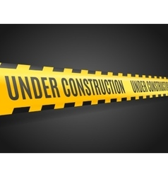 Under Construction Line with Text vector