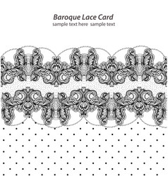 vintage delicate lace card retro dotted style vector image