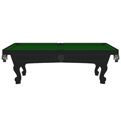 Vintage pool table vector