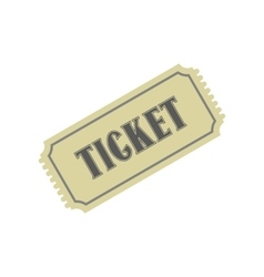 Vintage ticket flat icon vector image