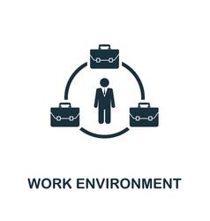 work environment icon symbol creative sign vector image