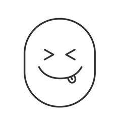 Yummy smile linear icon vector