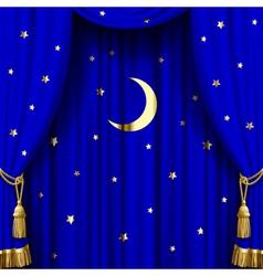 Blue curtain vector image