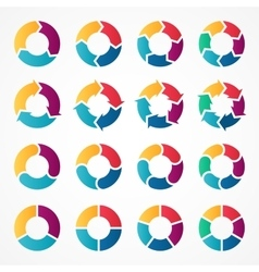 circle arrows infographic Template for vector image vector image