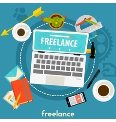 Freelance Concept Banner vector image