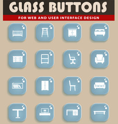 furniture simply icons vector image