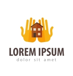 house hostel logo design template vector image