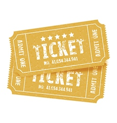 pair of tickets red vector image vector image