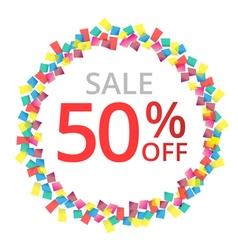 Sale colorful celebration background vector