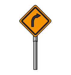 traffic signal turn the right vector image