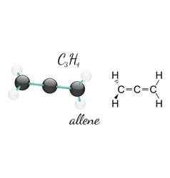 C3H4 allene molecule vector image vector image