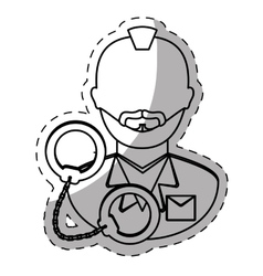 figure arrested man with handcuffs icon vector image