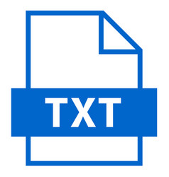 file name extension txt type vector image vector image