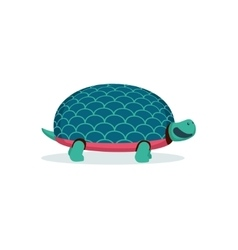 Isolated on white cartoon turtle vector image