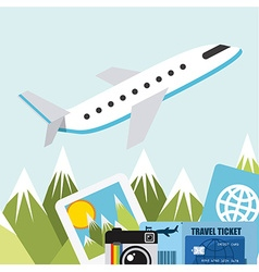 travel vacations vector image vector image
