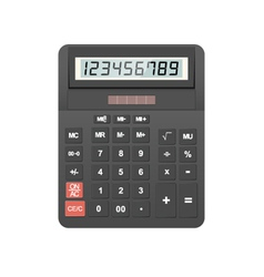 calculator object vector image vector image