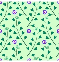 green pattern with lowers and Grass vector image