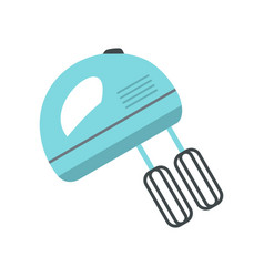 blue electric mixer icon flat style vector image