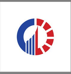 business finance circle company logo vector image