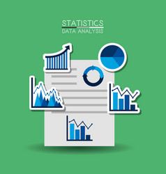 business report paper document charts graphs paper vector image