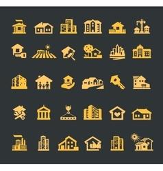 estate logo design template house or vector image vector image