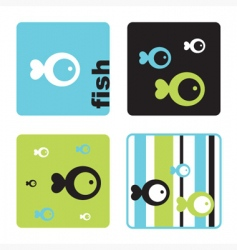 fish tmplates vector image vector image